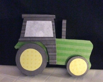 Tractor, handmade tractor, seasonal decor, decorative tractor
