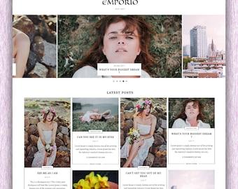 SALE! Emporio | Responsive Minimalist Premade Masonry Grid Blogger Template