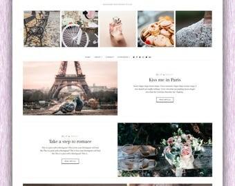 SALE! Parisienne | Responsive Minimalist Premade Blogger Template