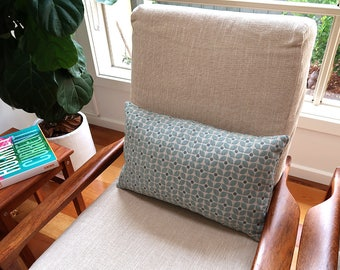 Rectangle cushion cover | Teal floral pattern