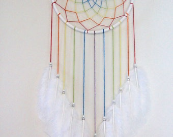 "7"" Rainbow Dream Catcher"