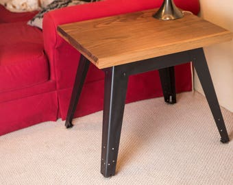 Mid Century / Industrial end table