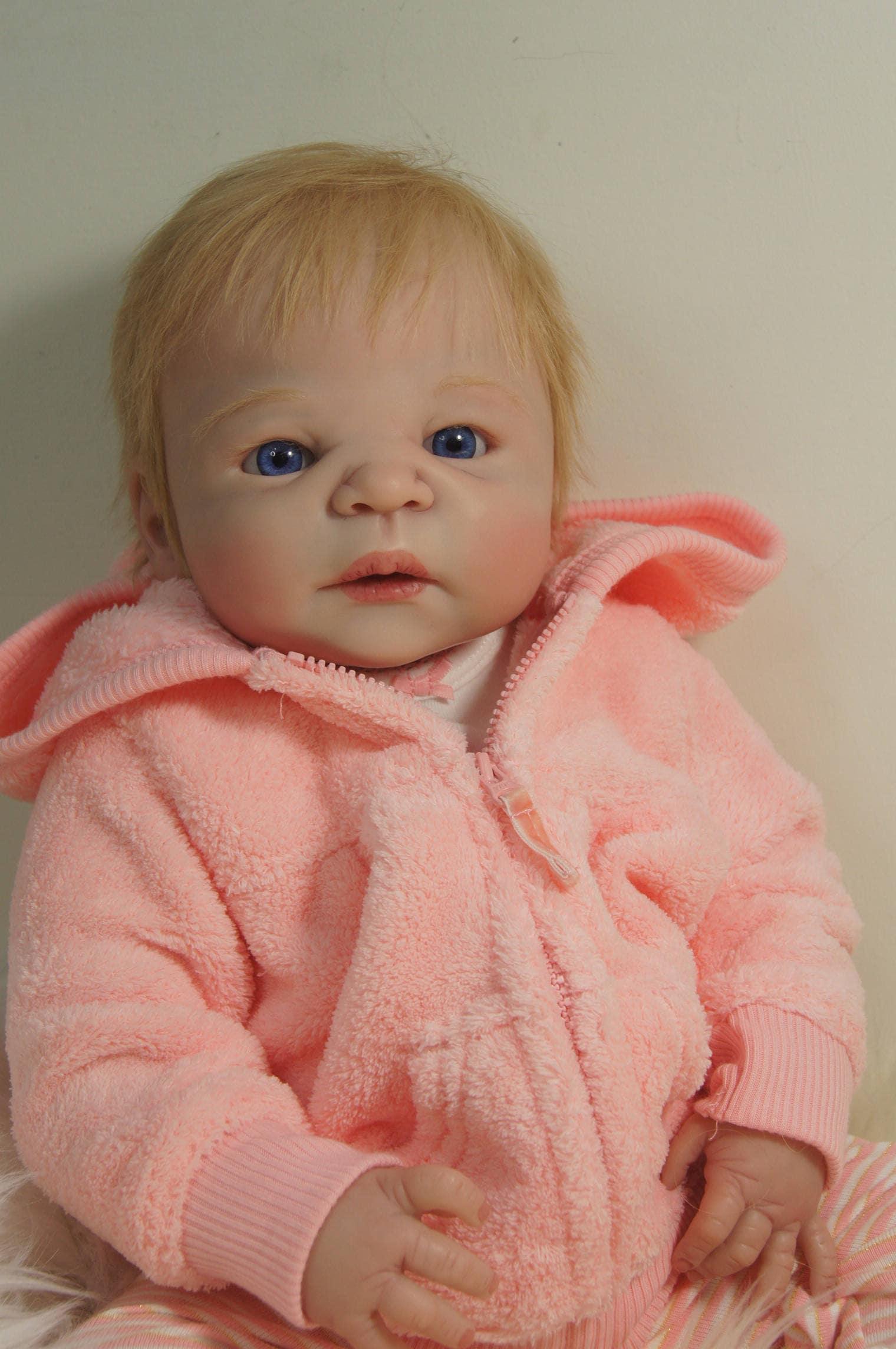 Ava Reborn Baby Doll Full Body Vinyl Silicone 23 Inch Girl
