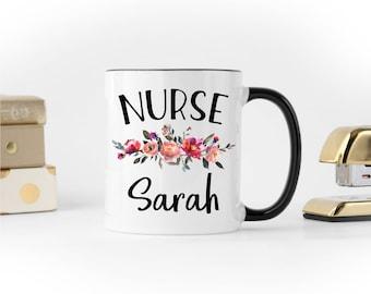 Nurse Mug, Nurse Gifts, Personalized Mug, Gift for Nurse, Nurse Coffee Mug, Nurse Appreciation, Custom Nurse Mug, Registered Nurse Mug