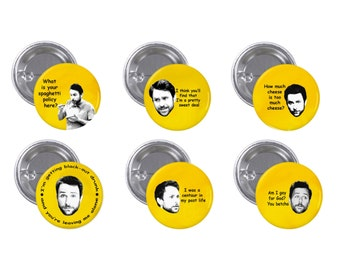 "It's Always Sunny Charlie 1"" Pinback Button Set of 6"