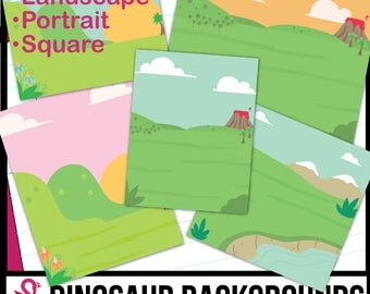 Dinosaur/Outdoor Background Scenes Clip Art