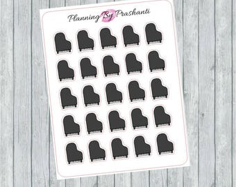 Piano Music Instrument Planner Stickers - For Erin Condren Life Planner or Happy Planner
