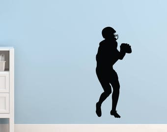 Wall sticker | Silhouette football player
