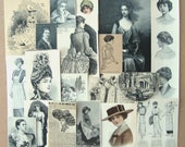 Victorian Clippings Lovely Ladies -A Curated Collection of Antique and Vintage Illustrations from Old Books & Magazines (18 pieces)