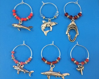 Shark Week!  6 Wine Charms