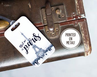 Luggage Tags - Eiffel Tower - Wanderlust - Paris - Travel Gift for Mom - Best Friend Gift - Graduation Gift