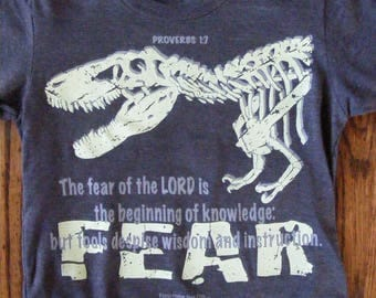 Christian T-Shirt for Youth/FEAR (glows in the dark)