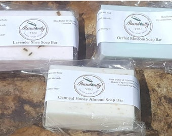 Soap Bar Gift Set | Spring Addition | Lavender, Orchid Blossom, Oatmeal Honey Almond