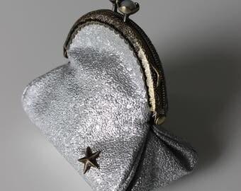 Retro coin silver glitter