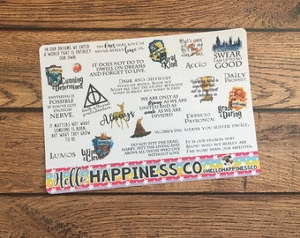 Quote Stickers- Harry Potter- Planner Stickers - Functional Stickers