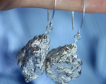 Silver earrings hand made