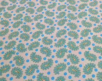 Green Paisley Cotton Fabric