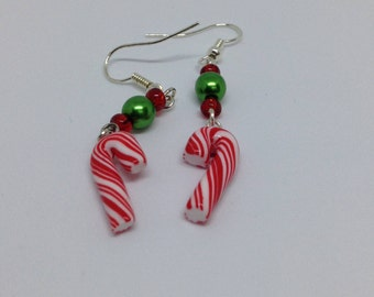 Sale *** Candy Cane Dangle Earrings