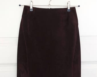 GUCCI LEATHER SKIRT · Size 38 · Pencil skirt · Velours · Suede