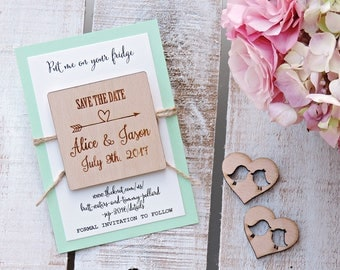 Wedding Wood Save-the-Date Magnet, Wood Magnet, Wooden Magnet, Save The Date Magnet, Wooden Save The Date Magnet, Rustic Save The Date