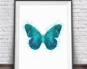 Butterfly Art • Colorful Wall Decor Butterfly Print Butterfly Wall Art Butterfly Poster Watercolor Butterfly Painting Butterfly Picture