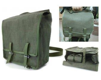 Linen bag, messenger bag, Vintage Bag, Military bag, Post Apocalyptic, Mad Max, Wasteland, Fallout vintage clothing