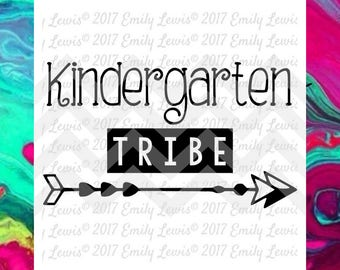 kindergarten tribe svg - kindergarten svg - teacher svg - cute school svgs - school shirt svg - svgs - school clipart - back to school svgs