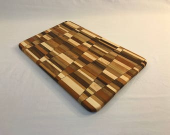 """Cutting/Serving Board with """"wedge"""" design (18.25"""" x 11.5"""")"""