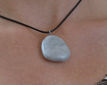 Handmade natural stone pendant necklace 5/12-12