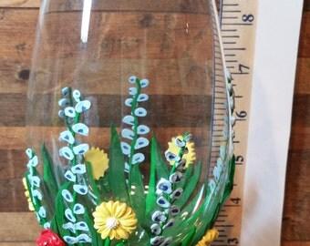 Flower 3D Wine Glass