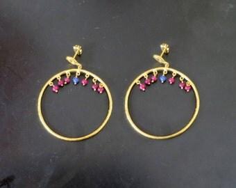 Earrings with semi precious stones