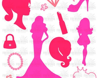 Barbie SVG - Barbie Silhouette - DIY Barbie - Cutting Files for Electronic Cutting Machines – svg eps dxf png and jpg