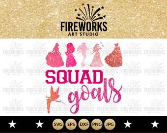 Princess squad goals svg, Disney squad goals clipart, Princess Squadgoals svg - ilhouette, svg, eps, png, dxf, jpg. cut print mug shirt sale