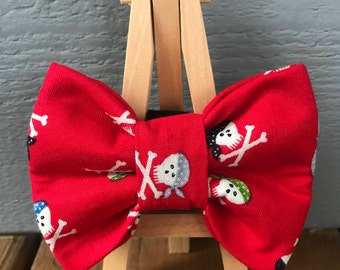 NEW! Red Skull and Crossbones Dog Bow Tie