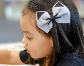 Cat bow || oversized bow || Bow headband || Bow hair clips || hair accessories || baby gift || gift for a kids || cheer bow,