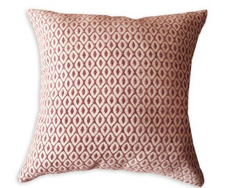 Rose Diamonds Throw Velvet Pillow Cover,  Pink Cushion Cover, Free Shipping, luxurious