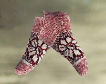 Women's knit socks, Winter womens socks, Short winter socks, Warm merino socks, Merino wool socks, Christmas girt idea, Knitted socks women
