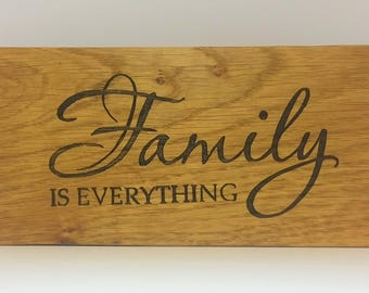 oak sign - oak plaque - personalised - family love - rustic wall art - room decor  - christmas present - house warming - best friend