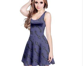 Oblivion Keyblade Dress - Skater Dress Kingdom Hearts Dress Cosplay Dress Comicon Dress Plus Size Dress Sora Dress Keyblade Dress