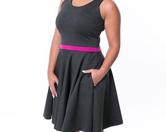 Dress the Eleanor - Charcoal