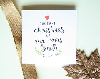 Our First Christmas as Mr & Mrs || Our First Christmas || Personalised Mr and Mrs || Mrs and Mrs || First Christmas || Mr and Mr
