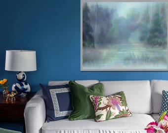 Abstract landscape painting Large wall art Abstract canvas art Oversized painting Horizontal wall art Large canvas art Huge wall art 24x36