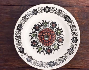 Kathie Winkle Ironstone plate   MCM   dessert plate   small plate