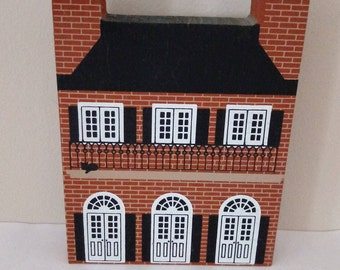 The Cat's Meow - Creole House - 1987 Faline - Signed Wood House - Shelf Sitter - Window Sill Decor