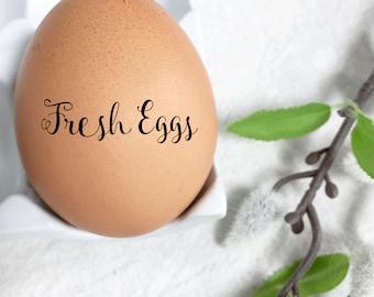 Egg Stamp -  Mini Egg Stamp - Fancy Fresh Eggs - Fresh Eggs Stamp - Chicken Stamp