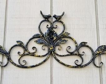 Metal Wall Art, Black Home Decor, Bird Wall Art, Black Metal Wall Decor