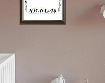 Poster/Print name nursery baby