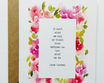 Jane Austen Quote GREETING CARD