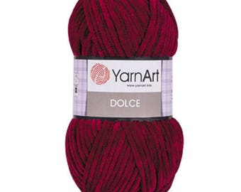 YarnArt DOLCE velours yarn crochet yarn soft yarn spring yarn color choice hand knit yarn velours yarn fancy yarn super soft yarn