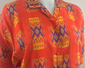 "Vintage Freestyle 90s ""Saved by the Bell"" Inspired Print Shirt/Size Medium"